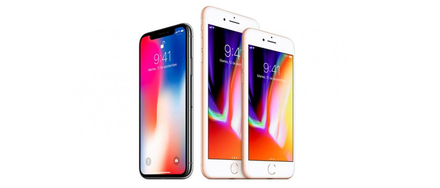 iPhone X y iPhone 8