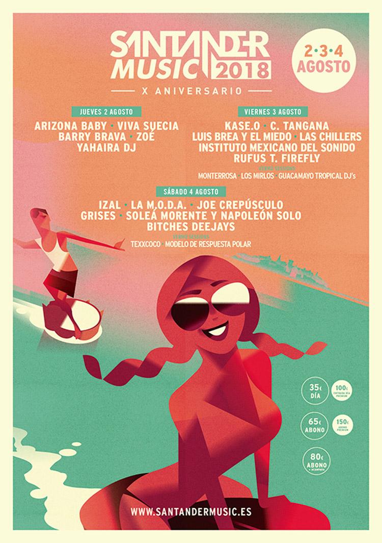 Santander Music 2018 (cartel)